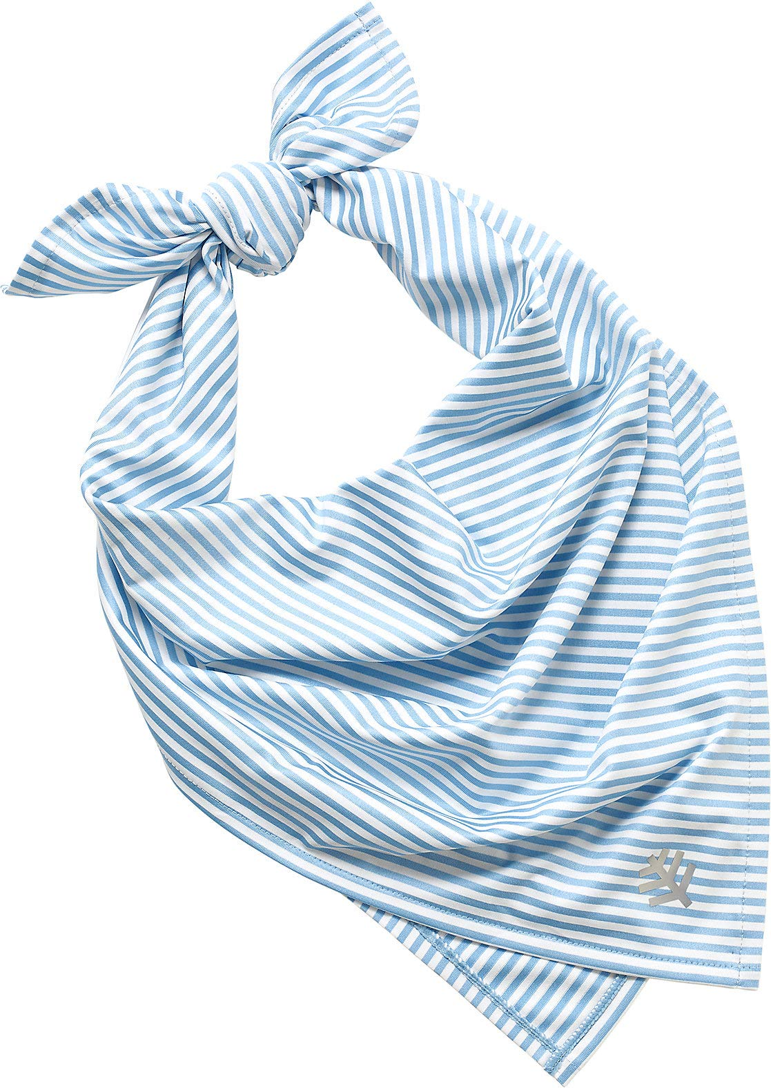 Coolibar UPF 50+ Men's Women's Performance Sun Bandana - Sun Protective (One Size- Vintage Blue/White Stripe) by Coolibar (Image #1)