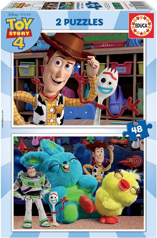 Educa - Toy Story 4, 2 Puzzles infantiles de 48 piezas, a partir de 4 años (18106): Amazon.es: Juguetes y juegos