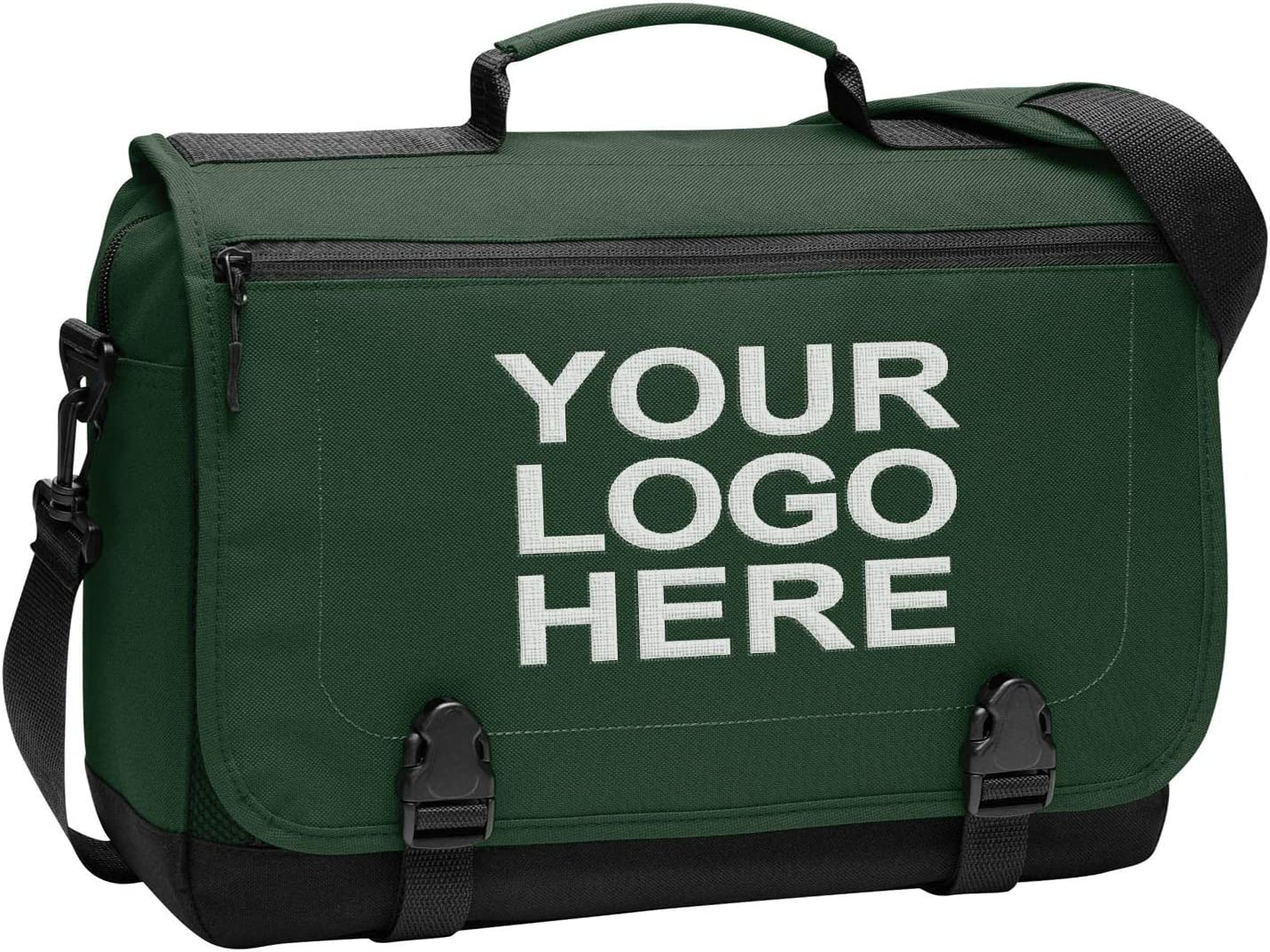 Personalized Messenger Laptop Briefcase - Add Your Embroidered Text, Monogram or Logo - Custom Shoulder Bag