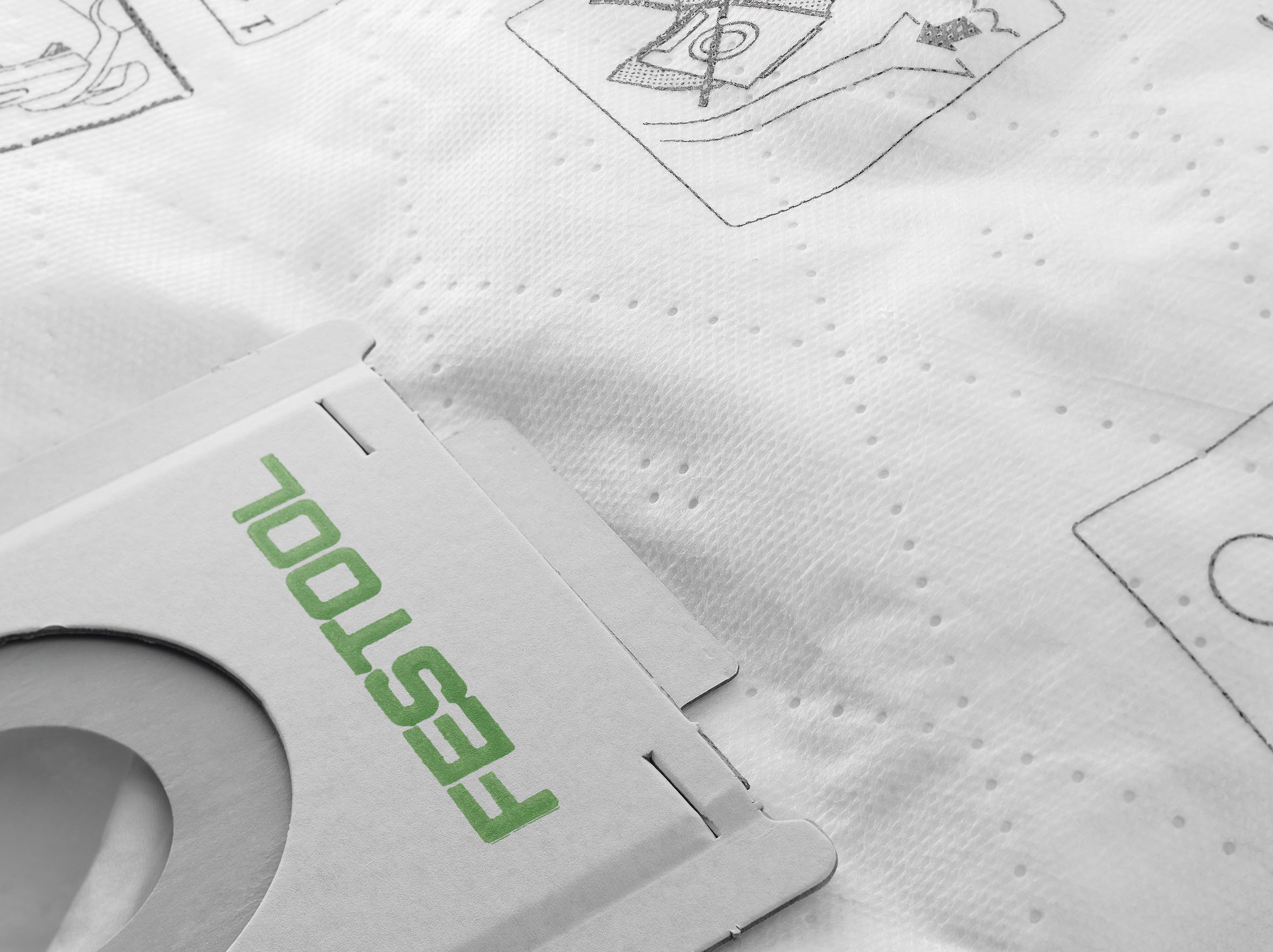 Festool 496187 Selfclean Filter Bag For CT 26, Quantity 5
