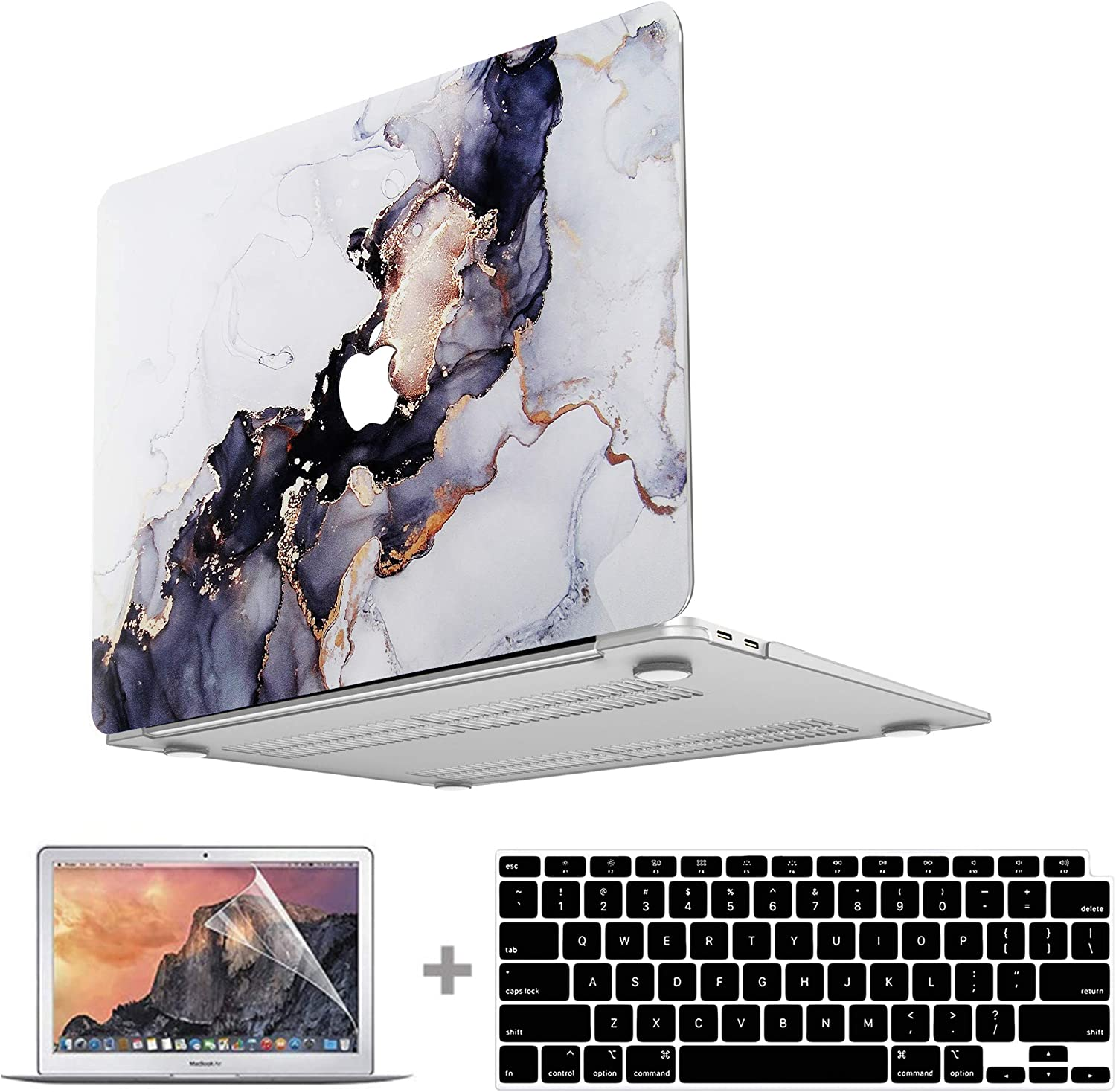 Macbook Air 13 Inch Case 2020 2021 2019 2018 Release A2337 M1 A2179 A1932, MacBook Air 2020 Case Vivid Print Laptop Case Hard Shell & Keyboard Cover & Screen Protector Compatible for Apple MacBook Air