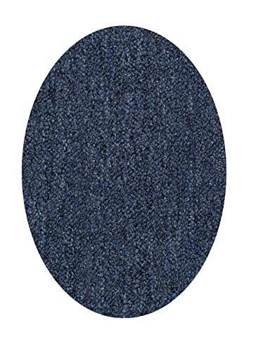 Home Queen Indoor Outdoor Commercial Petrol Blue Color Area Rug – 3 x5 Oval