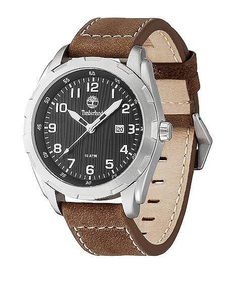 Timberland TBL.13330XS/02 - Reloj analógico de cuarzo para hombre con correa de piel, color marrón: Amazon.es: Relojes