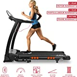 JLL S400 Folding Treadmill, 2018 New Generation Digital Control 2.5HP Motor, Large Running Area, 20 Level Incline, 15 Programmes, Speakers, Bluetooth, USB & AUX, 16 Point Cushion Deck, LCD Display