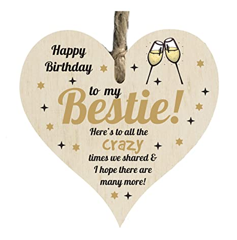 Happy Birthday Best Friend.The Sticker Studio Ltd Happy Birthday Best Friend Quote Wooden Heart Shape Plaque Card Gift Sign Card Htc109