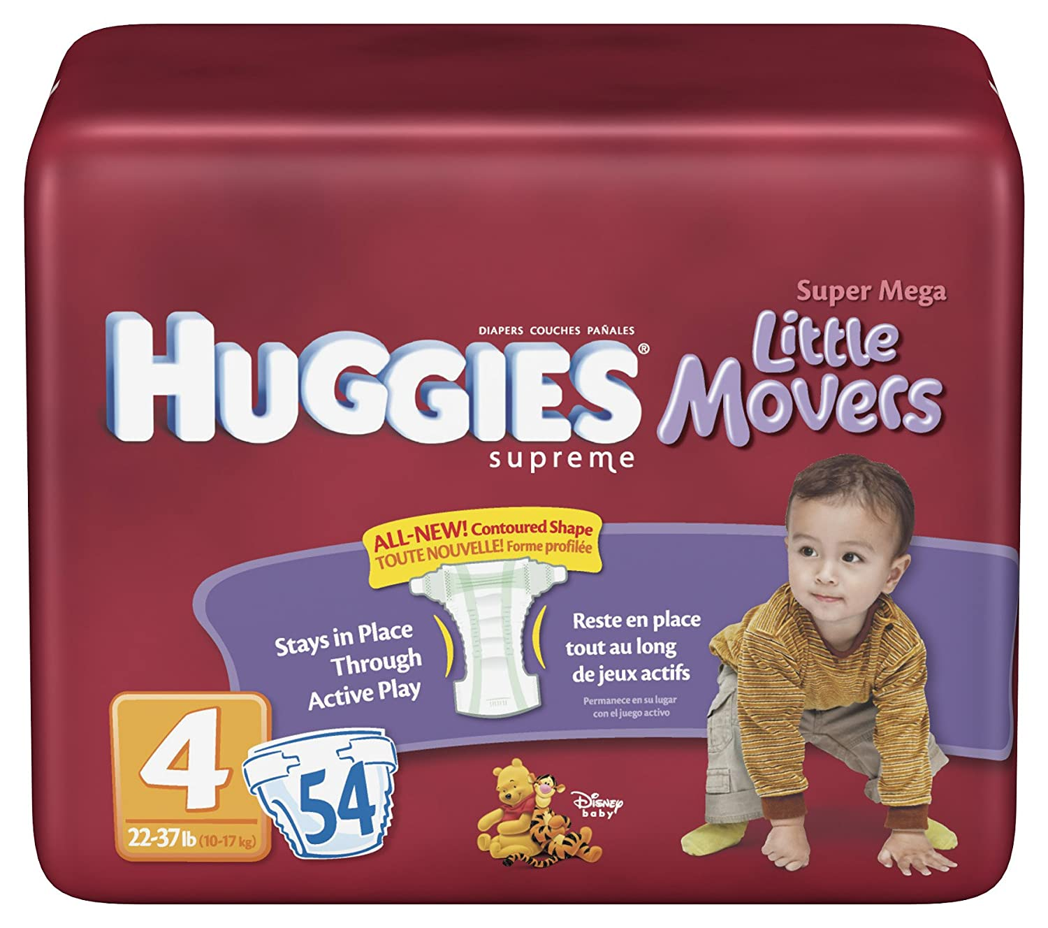 Amazon.com: Huggies Natural Fit Diapers, Size 4, 54-Count (Pack of 2): Health & Personal Care