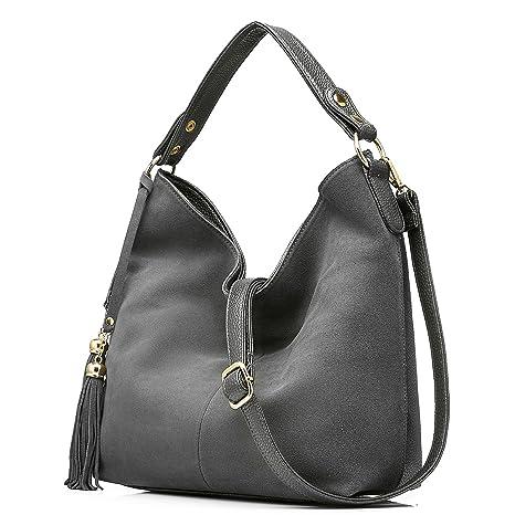 1d6f353d7be67 Taschen Damen Handtaschen Leder Henkeltasche Designer Taschen Hobo  Umhängetasche Wildleder
