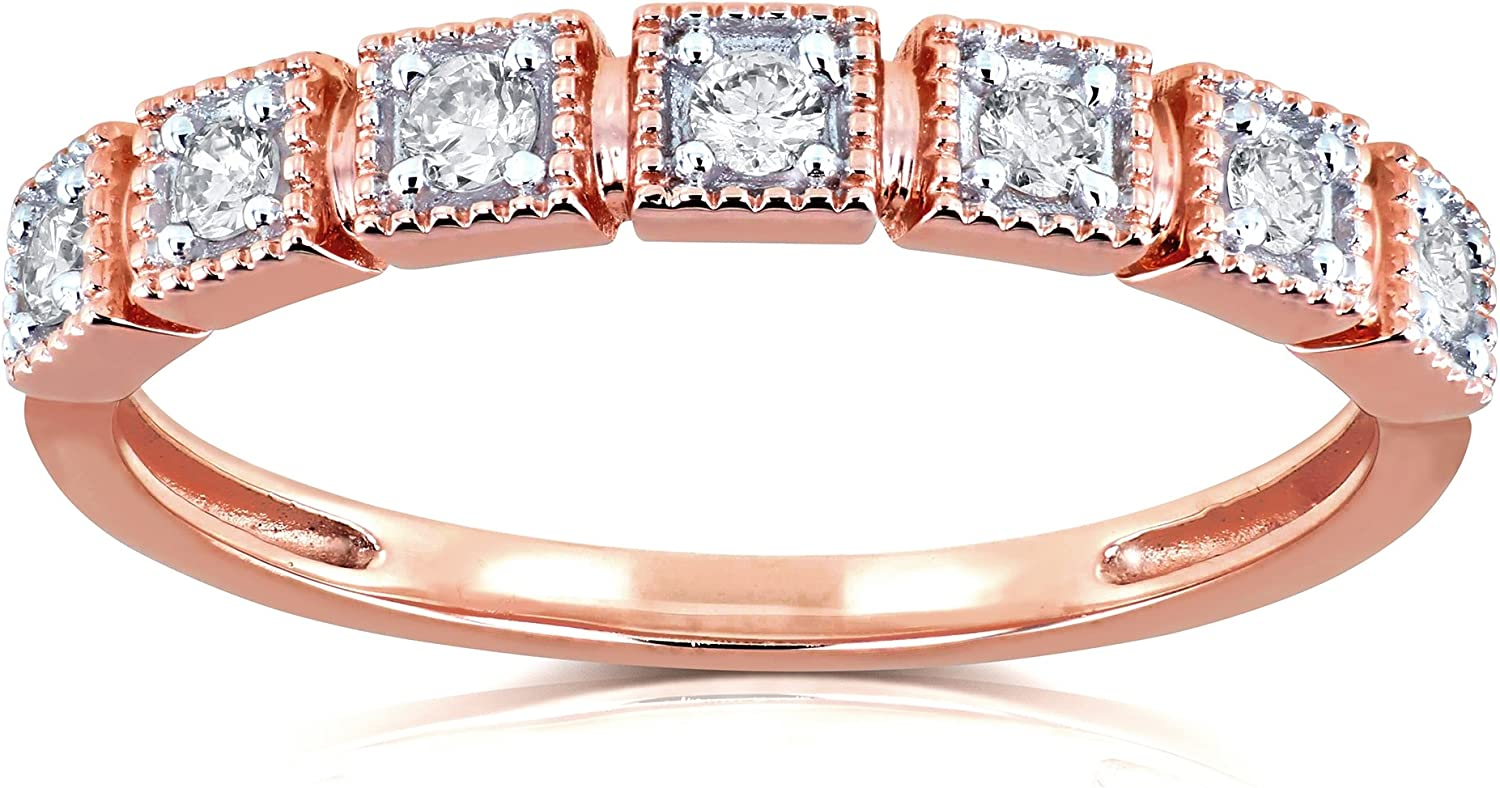 Kobelli Diamond Wedding Ring 1//6ct TDW in 10k Rose Gold