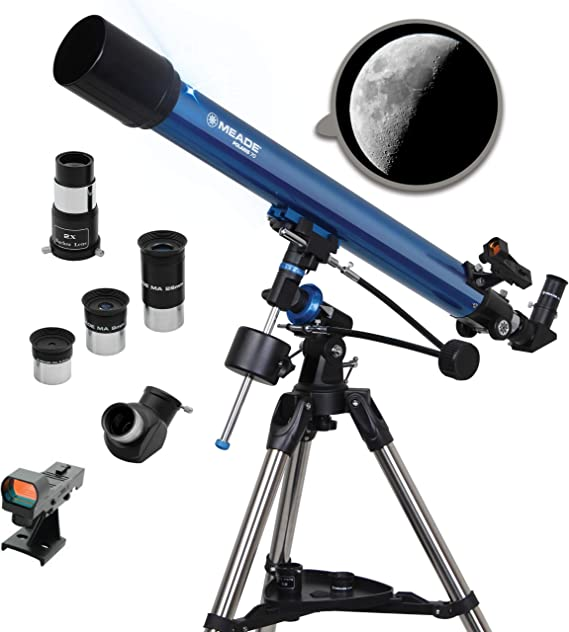 Meade Instruments 216001 Refraktor Teleskop Polaris 70 Kamera
