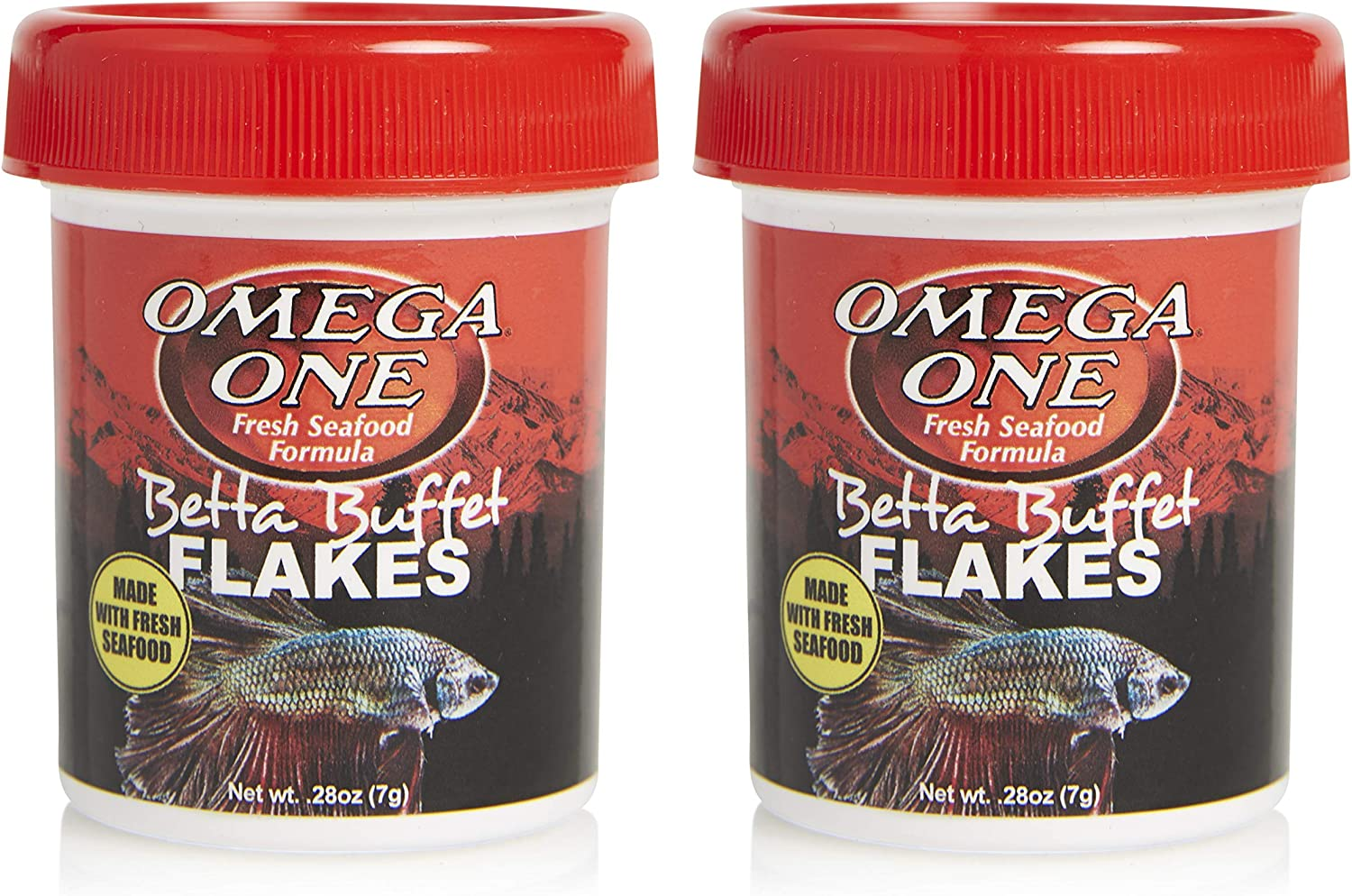 Omega One Betta Flakes, 0.28 oz, Pack of 2