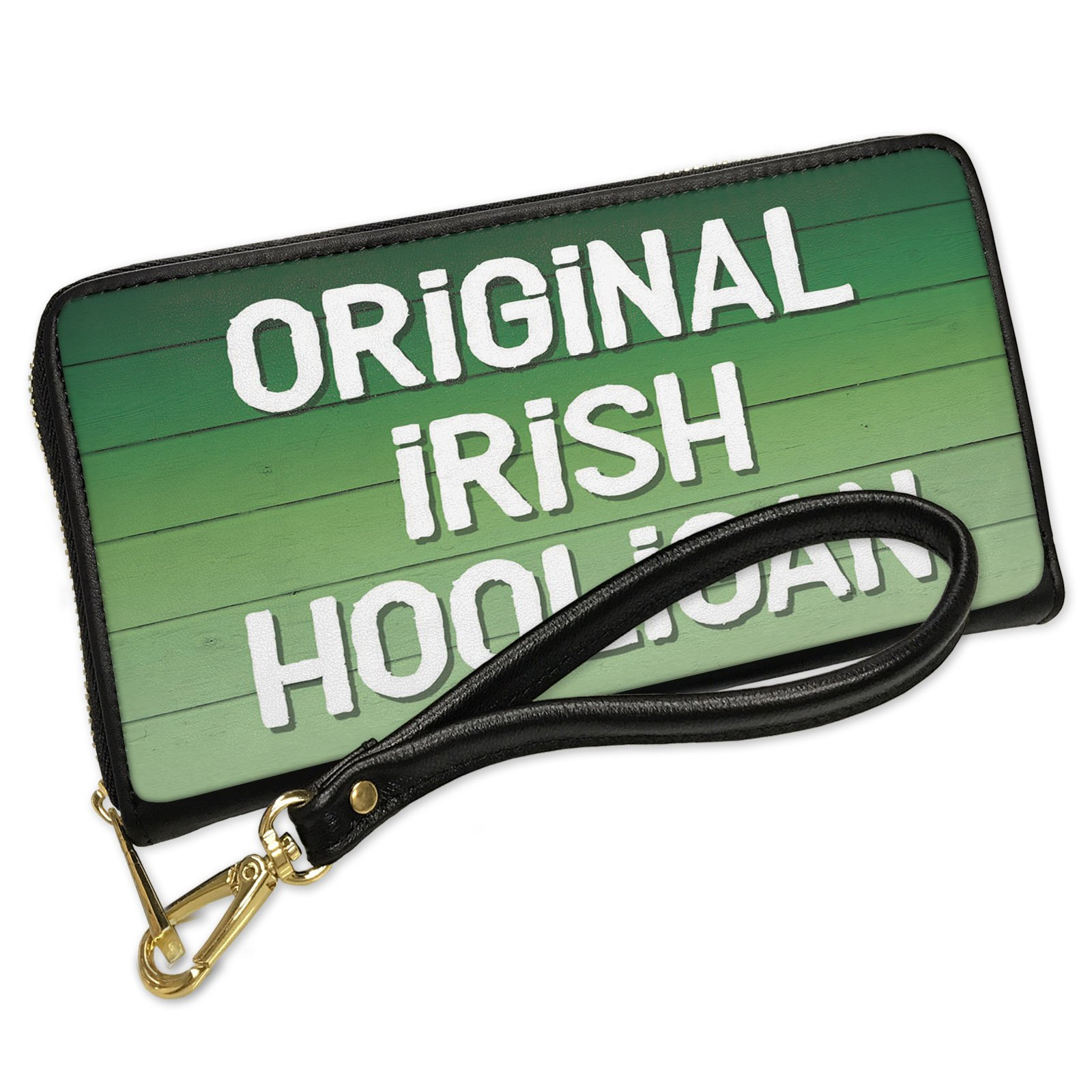 Wallet Clutch Original Irish Hooligan St. Patrick's Day Green Fade with Removable Wristlet Strap Neonblond