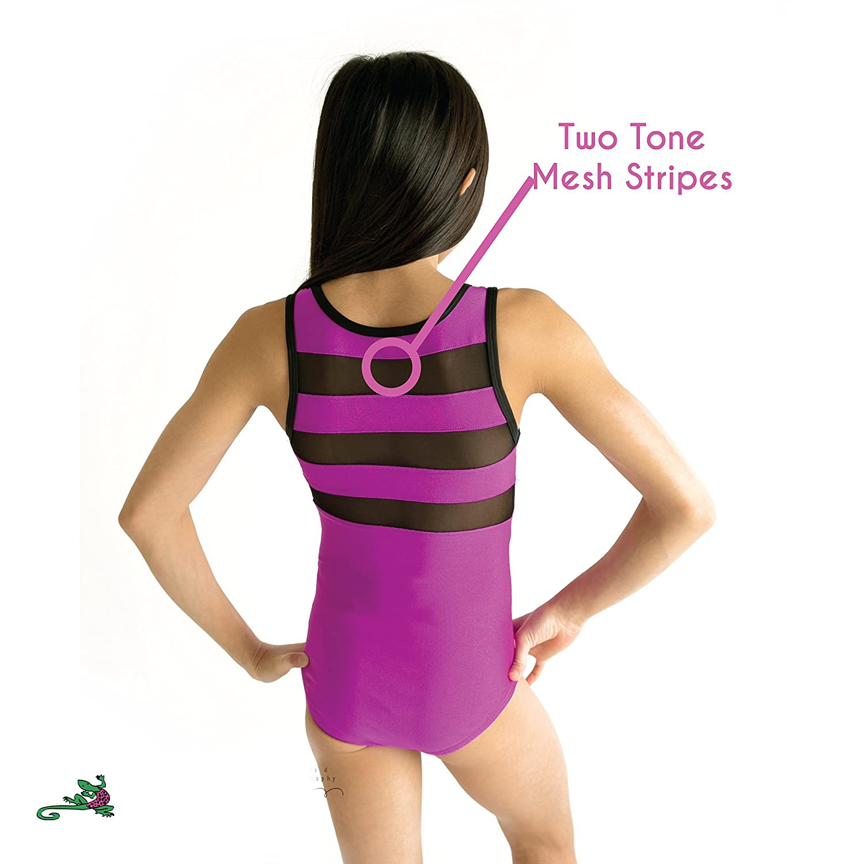 cf6a28769e57 Amazon.com  Lizatards Mesh Insert Gymnastics Leotard