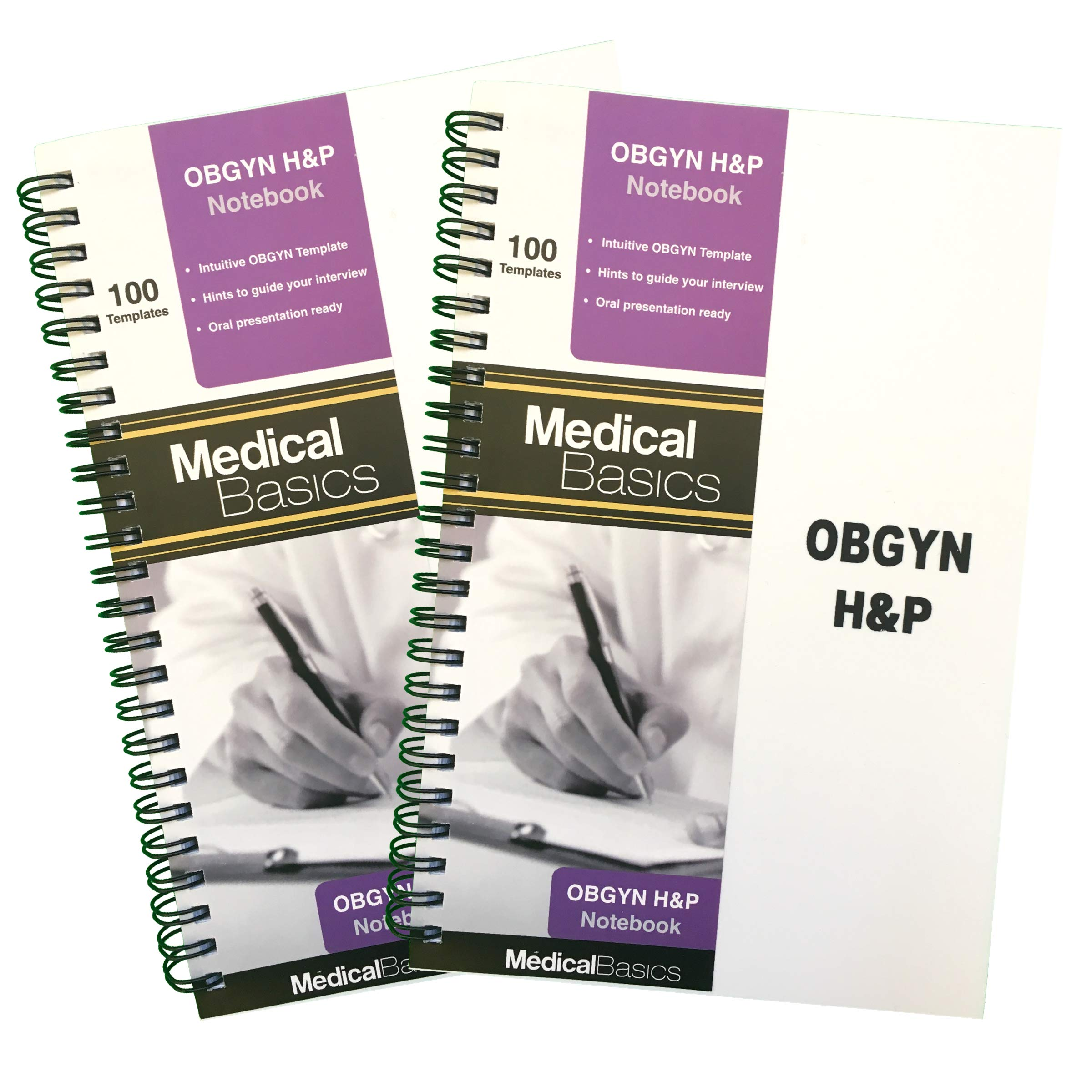 OBGYN H&P Notebook Medical History and Physical Notebook, 100 Medical templates with Perforations