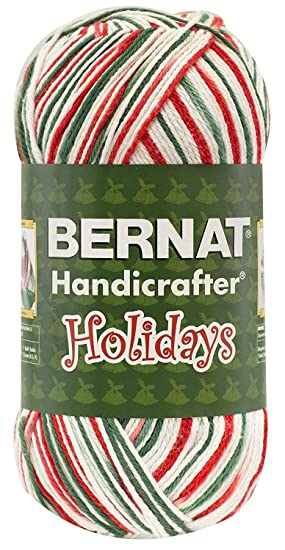 Amazon.com: Bernat Christmas Holiday Yarn 100% Cotton Mistletoe Ombre Jumbo Ball 12 oz #4 Medium Worsted