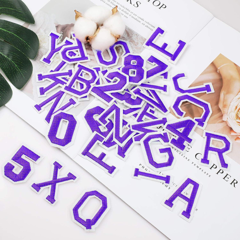 n/úmeros Divertidos 0-9 A-Z Bricolaje Bordado Ropa Parches Coser en Hierro en para la Camiseta Jeans Ropa Bolsa WD/&CD 62 Piezas Parche Ropa Bordado Azul Claro