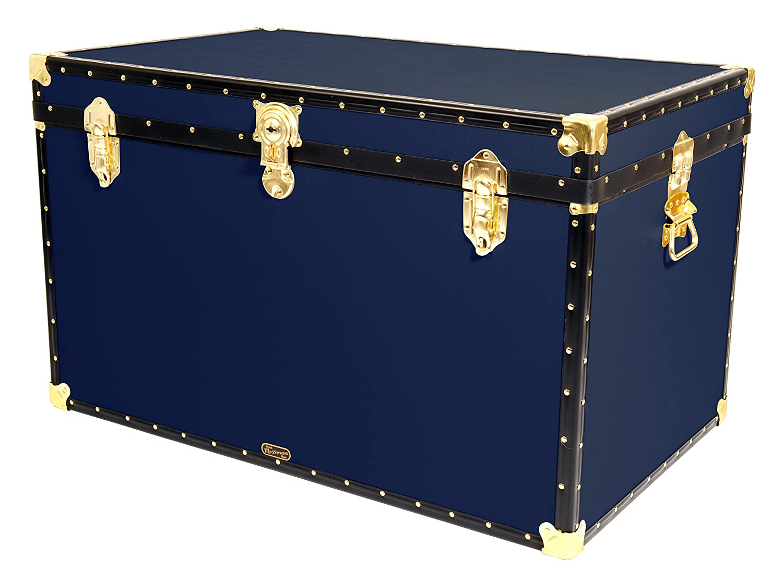 Original Mossman KING Trunk Storage Box Chest Steamer Case Home Furniture (navy)