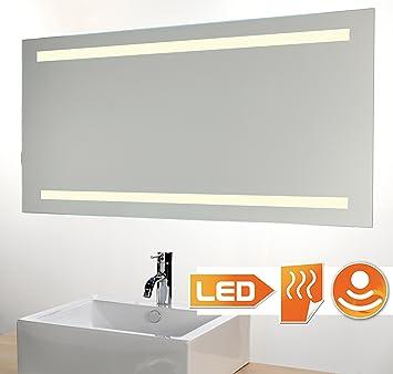 Badspiegel LED beleuchtet mit Sensor und Heizung 80x60 cm: Amazon.de ...