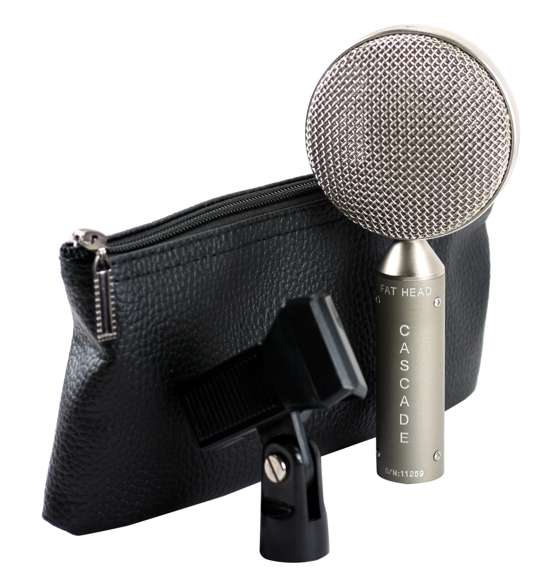 Cascade Microphones FAT HEAD BE Grey Body/Anodized Silver Grill by Cascade Microphones