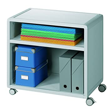 Fastpaperflow 381K2.11 - Estantería para archivadores, H1166 x B651 x T330 mm, color gris: Amazon.es: Oficina y papelería