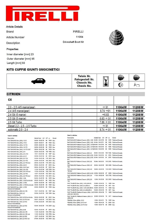 PIRELLI 11064 Kit de arranque de transmisión final: Amazon ...