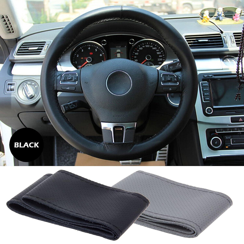 Lemonbest C0196 Universal Car Steering Wheel Stitch On Thread Please Help Critique Advise W Power Hose Replacemnt Wrap Cover 106 Cm Black Automotive