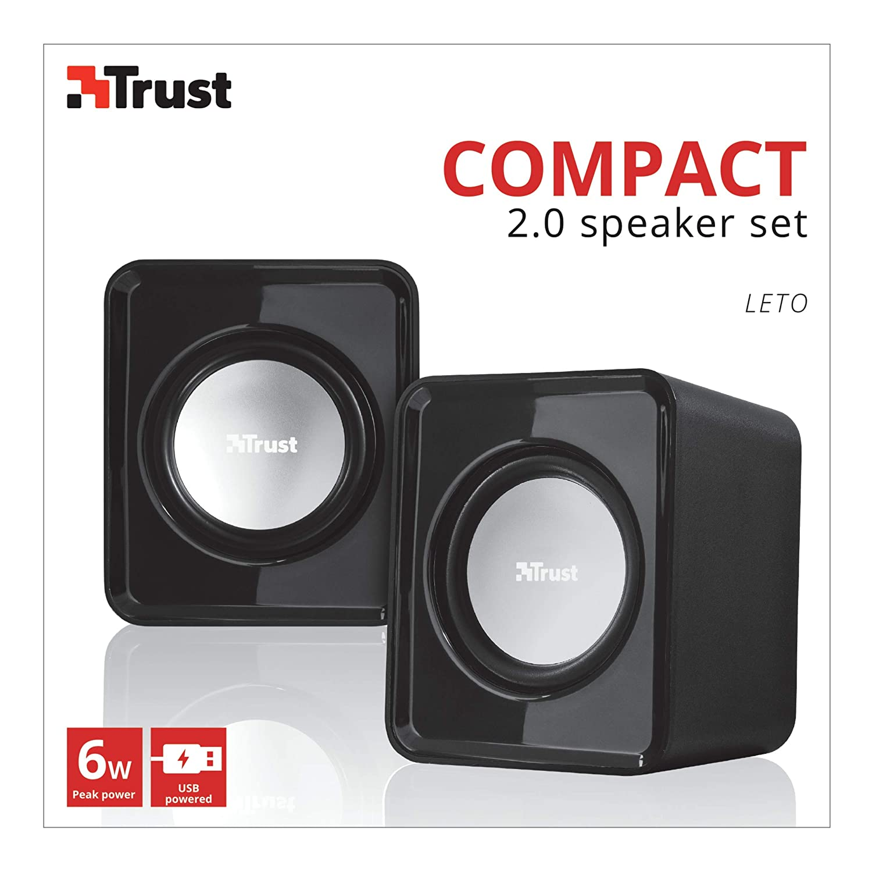 6 Watt Alimentation USB Trust leto Enceinte PC 2.0 compacte pour Ordinateur