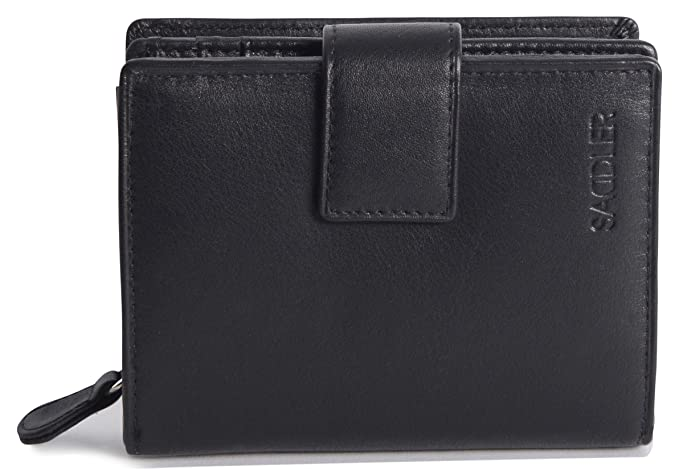 Amazon.com: Saddler Womens Medium de piel auténtica Bifold ...