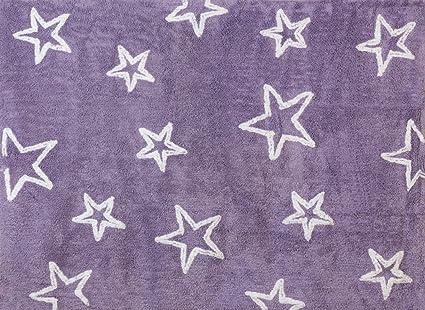 Tappeti Per Bambini Lavabili In Lavatrice : Aratextil stella tappeto per bambini cotone lilla cm