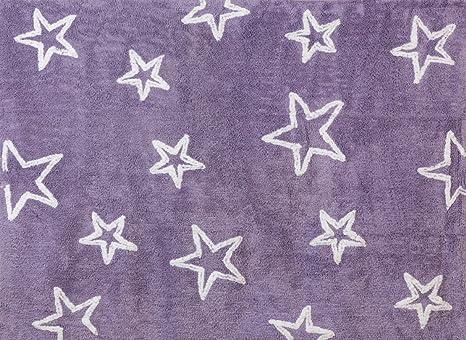 Tappeto Cameretta Lilla : Aratextil stella tappeto per bambini cotone lilla cm