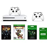 Microsoft Xbox One S 1TB & Gears of War Digital Game Code & Rare Replay Digital Game Code & 3 Months PS Live and 3 Months Gamepass Kit & Extra Controller