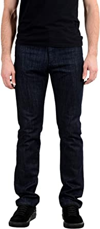Amazon Com Versace Collection Trend Dark Wash Pantalones Vaqueros De Pierna Recta Para Hombre Talla 34 It 50 Clothing