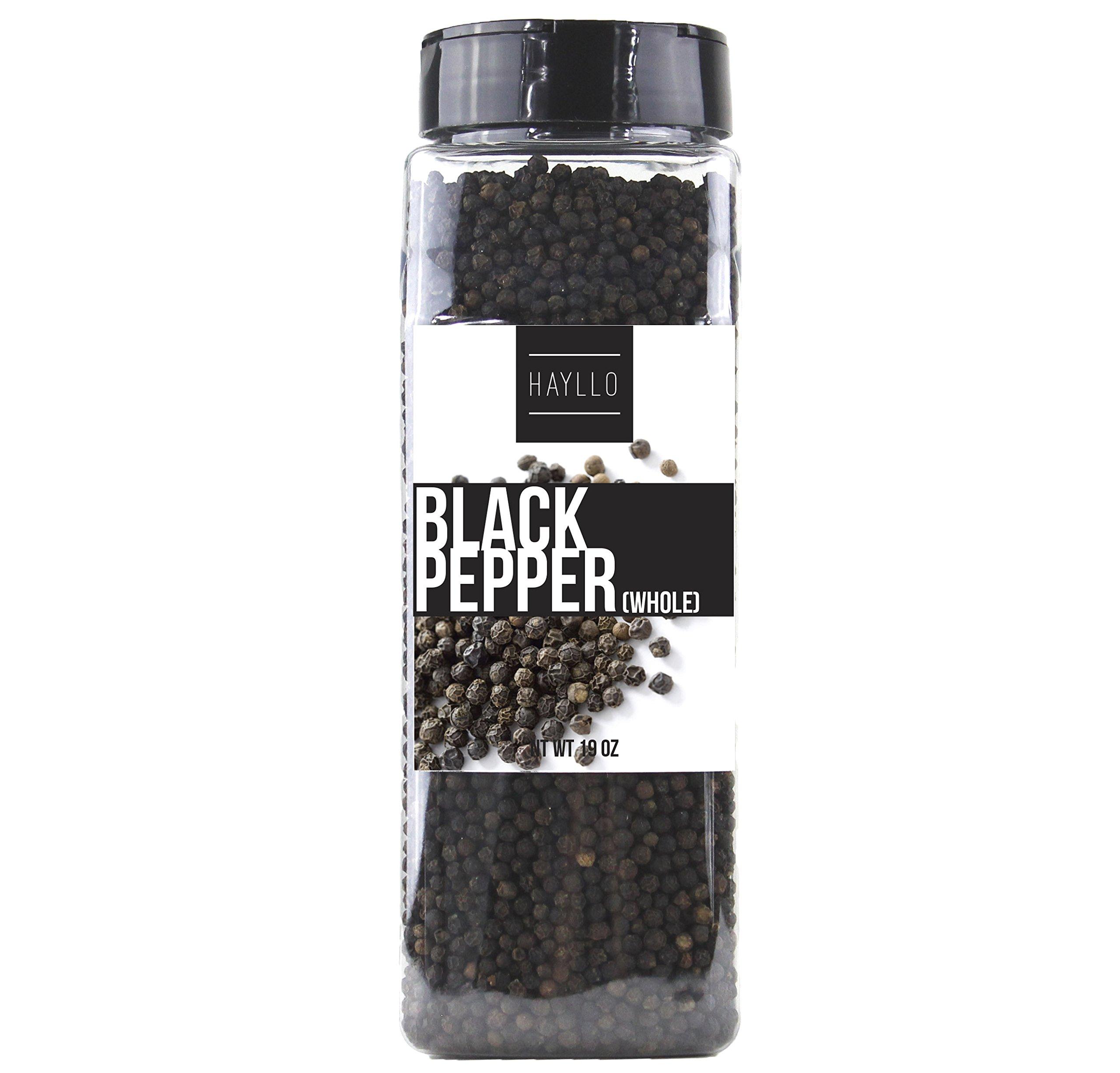 Hayllo Black Pepper Whole (Peppercorns) , 19 Ounce