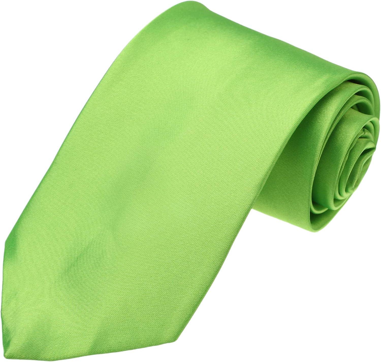 Dan Smith Men's Fashion Solid Tie Microfiber Neckties Xmas With Box