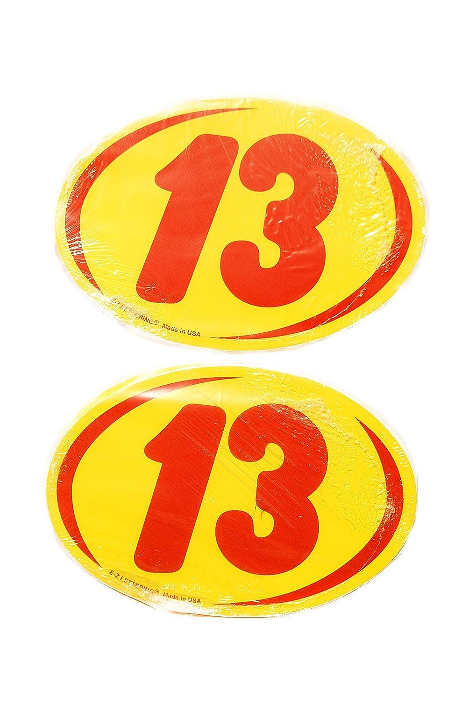 Great Link Oval Model Year Windshield Dealer 2 Dozen Stickers 2 Digit Yellow//Red Window Sticker R//Y 2005