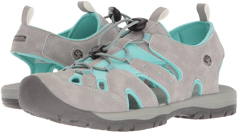 Northside Womens Burke II Sport Athletic Sandal B071GS859B Size 10 M US Light Gray/Turquoise