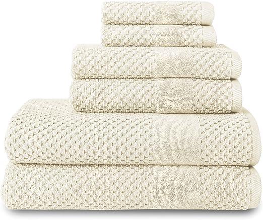 Almond Chortex 6 Piece Towel Set Set of 6