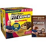 FITCRUNCH Snack Size Protein Bars   Designed by Robert Irvine   World's Only 6-Layer Baked Bar   Just 3g of Sugar & Soft Cake Core (18 Snack Size Bars + FC Protein Included, Chocolate Peanut Butter)