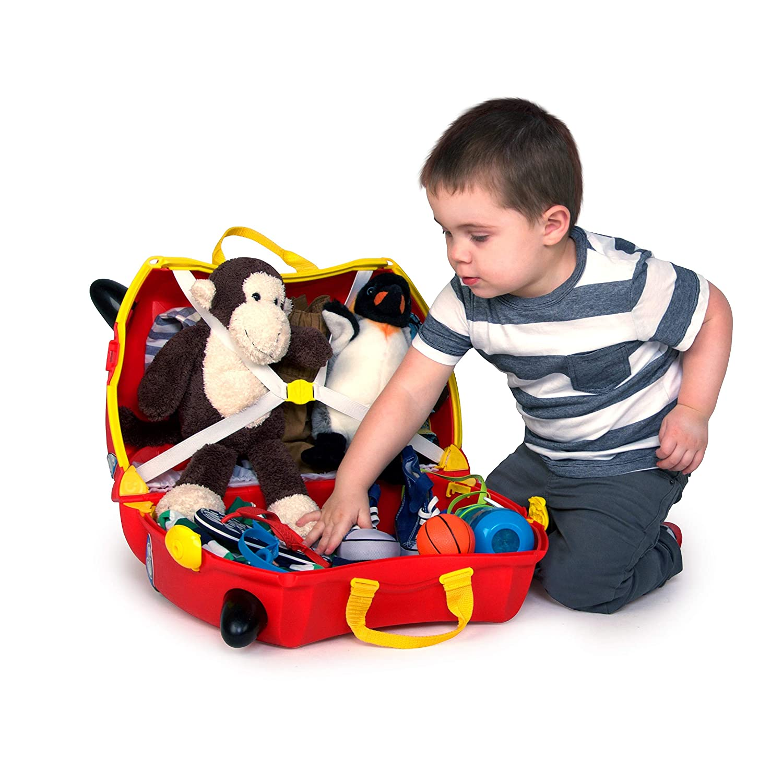 Rouge Boris le Bus Trunki Valise Enfant /à Roulette /à Chevaucher et Bagage Cabine Vehicules