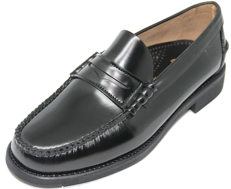 George´s Shoes 1636. Zapato Mocasín Cosido a Mano EN Inca Mallorca; Piel de Máxima Calidad, Color Negro 10