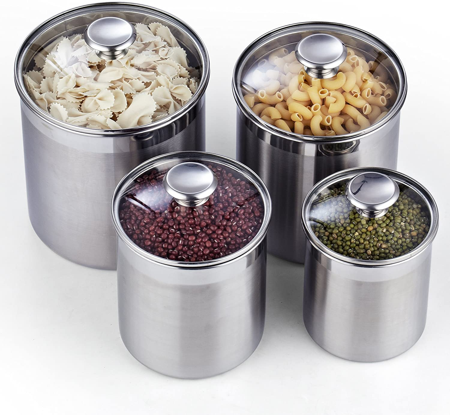 Cooks Standard 4-Piece Canister Set, 4 pcs, Stainless Steel