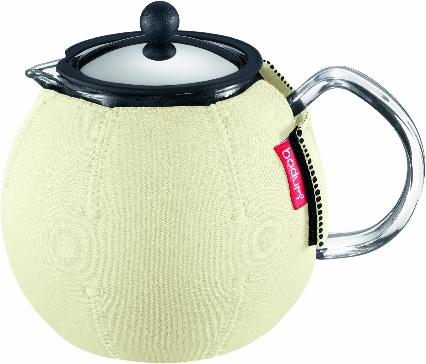 Bodum Nero Thermal Neoprene Tea Press Coat, Off White, 8-Cup