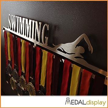 Medaldisplay - Medallero de pared para natación: Amazon.es: Deportes y aire libre