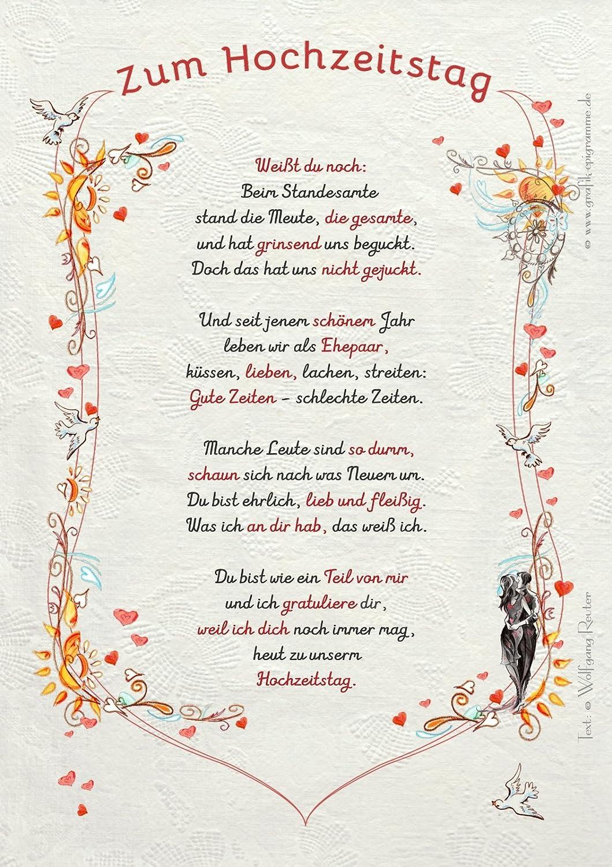 Hochzeitstag Gedichte Von Kindern