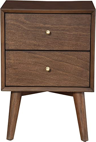 Brand New Modern Beautiful Vilas Light Charcoal Nightstand with Metal Drawer Glides Clearence for Bedroom
