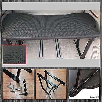 Matratze VW T5 T6 Multivan Klappmatratze L:188 B:148 H:8cm Schlafauflage Schwarz
