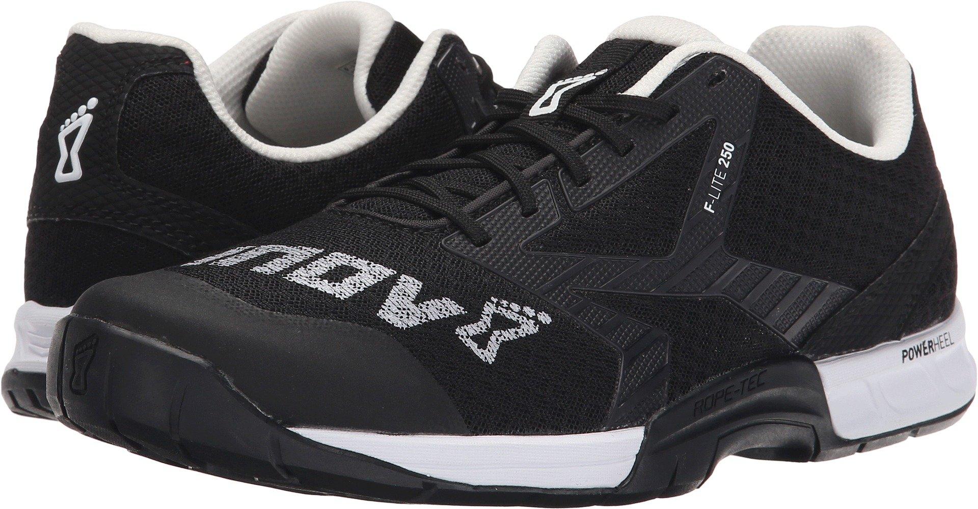 Inov-8 Women's F-Lite 250 Fitness Shoe, Black/White, 8.5 B US