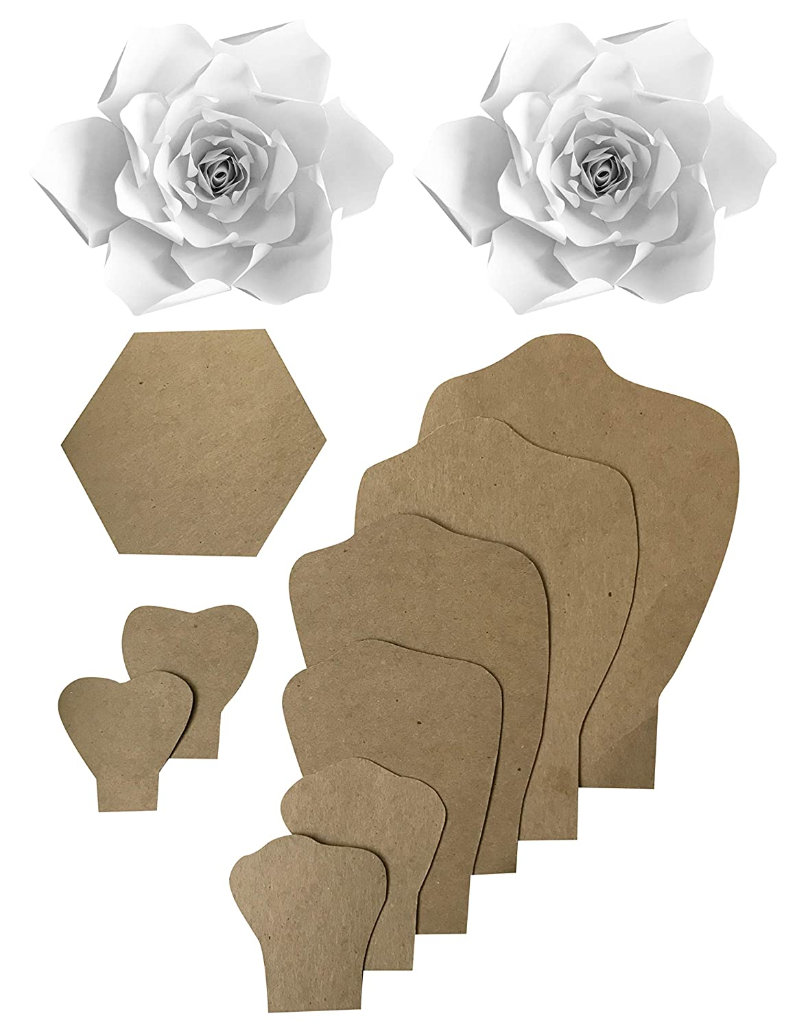 Paper Flower Template Kit Make Your Own Paper Flowers Paper