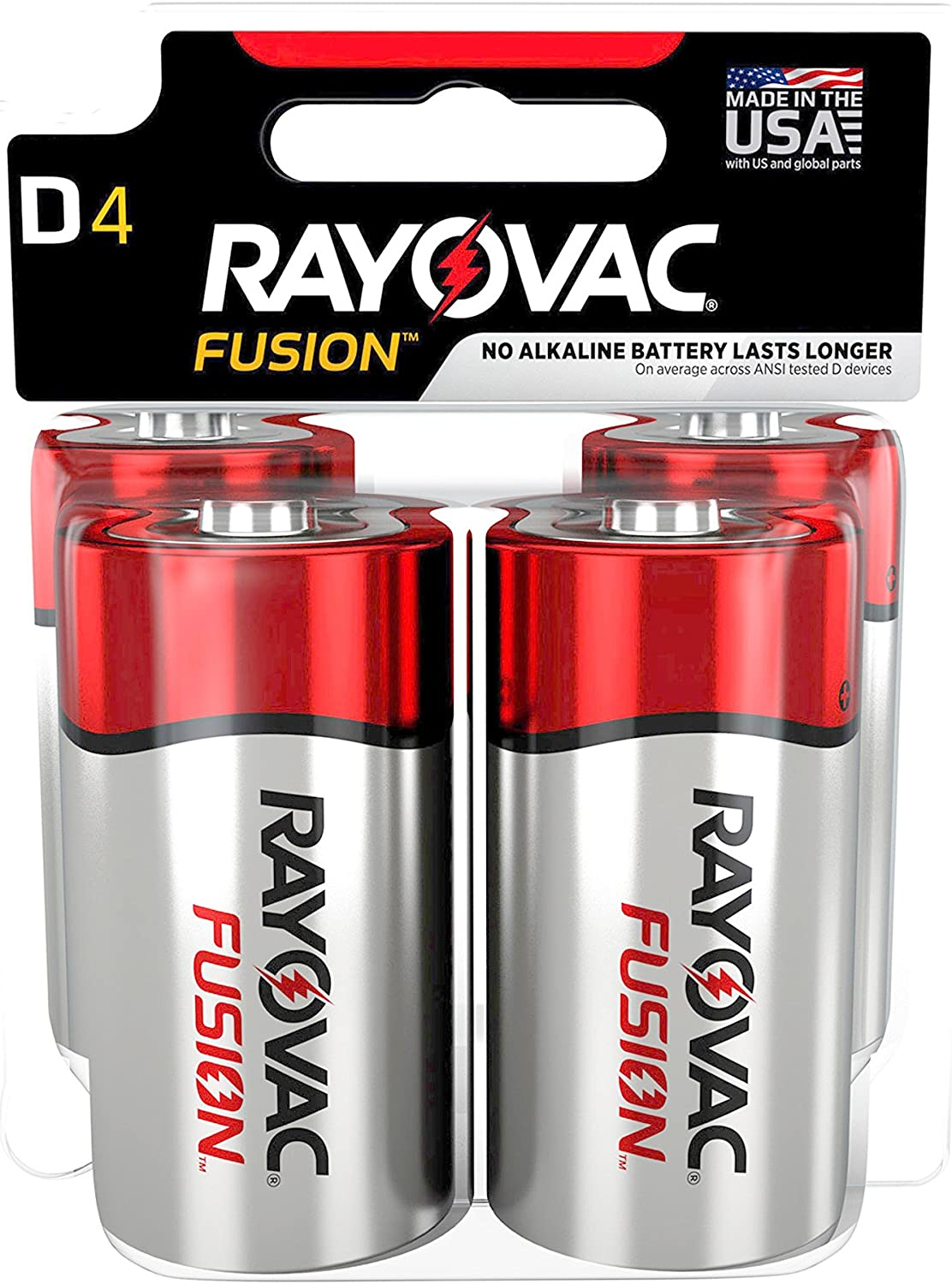 Rayovac Alkaline Battery Size D 36 Pack