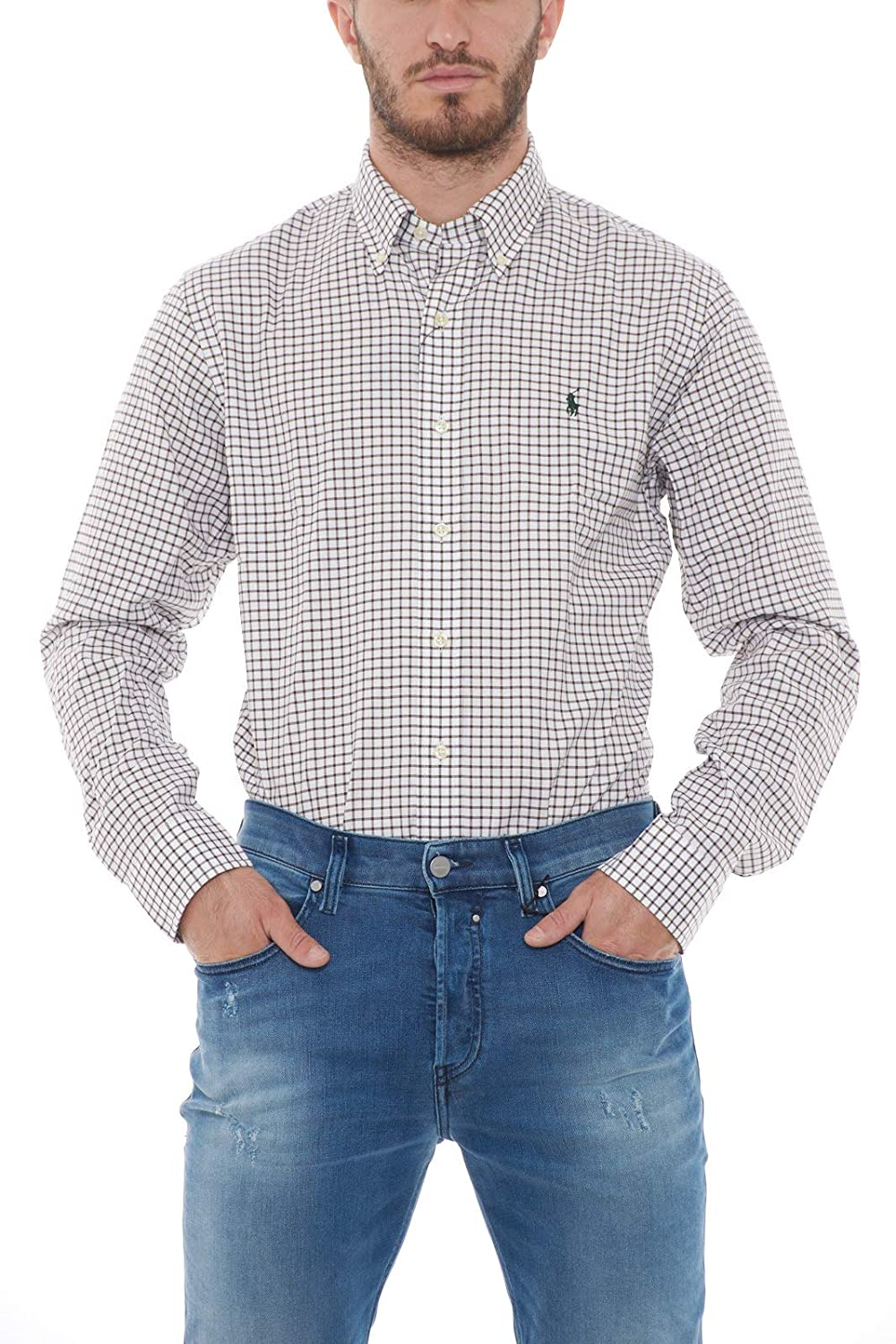 Polo Ralph Lauren Camicia a Quadri Uomo Mod. 710723598 XL: Amazon ...