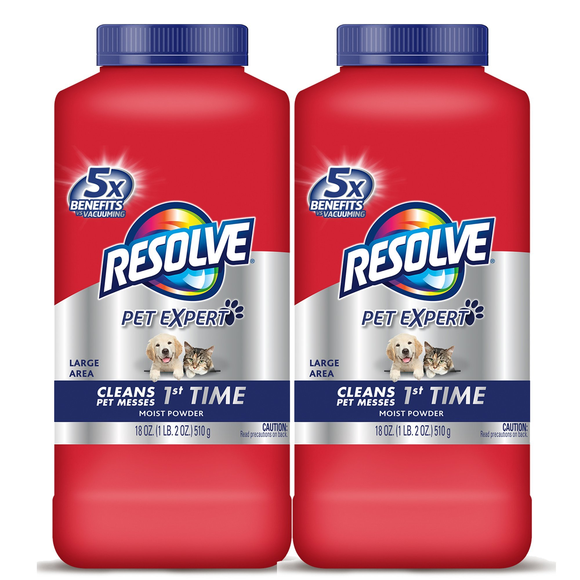 Resolve Pet Carpet Cleaner Powder, For Dirt & Stain Removal, 18 oz Bottle, 2-Pack by Resolve (Image #1)